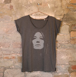 Ghosted scoop neck tee / Female LIMITED EDITION